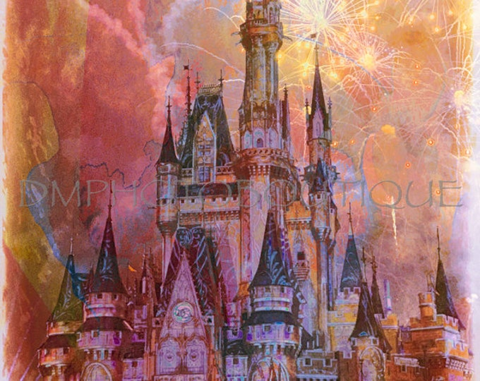 Disney Castle, Disney Art, Disney Fireworks, Disney, Cinderella Castle, Disney Castle Photo, Cinderella Castle Photo, Disney Photography