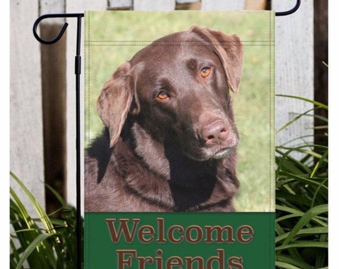 Chocolate Lab Garden Flag, Brown Lab Garden Flag, Labrador Retriever Garden Flag, Lab, Lab Gift, Chocolate Lab, Labrador Retriever, Dog Flag