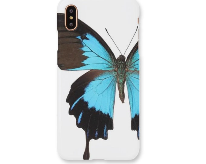 Blue Morpho Butterfly iPhone Case, Butterfly Phone Case, Blue Butterfly iPhone Case, Butterfly, Butterfly iPhone Case, Blue Butterfly