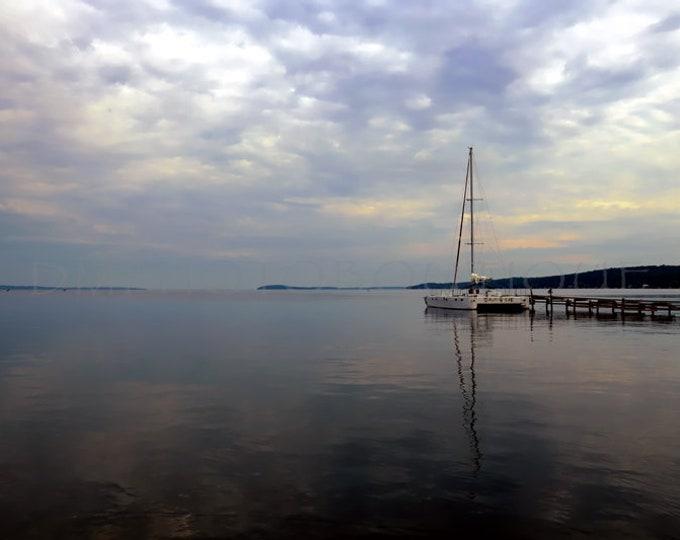 Catamaran Photo, Boat Print, Boat Canvas, Nautical Print, Nautical Canvas, Nautical Wall Print, Nautical Decor, Lake Michigan Wall Art, Boat