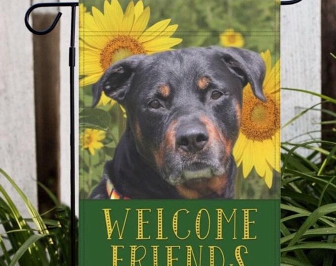 Rottweiler Garden Flag, Rottweiler Flag, Rottweiler Gift, Rottweiler Mom Gift, Rottie Garden Flag, Rottweiler, Rottie, Dog Lover Gift, Dog