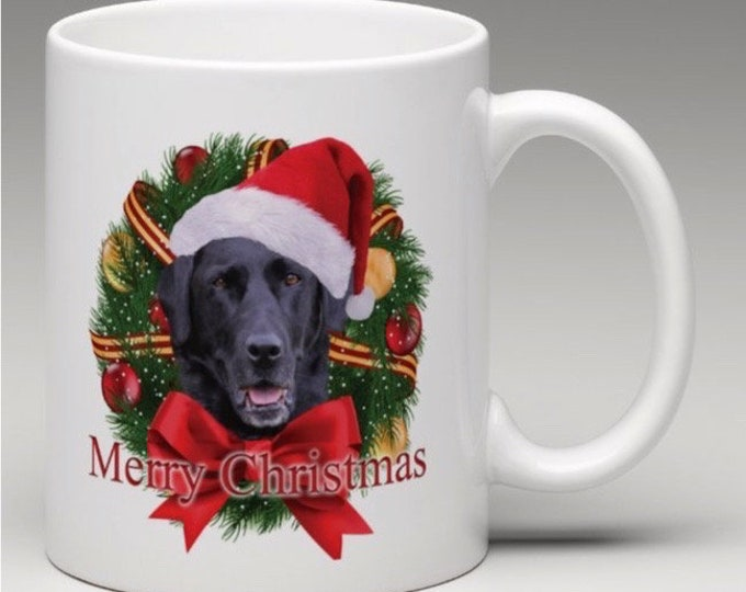Black Lab Christmas Mug, Labrador Retriever Christmas Mug, Lab Christmas Mug, Black Lab Holiday Mug, Gift For Lab Lover, Labrador Retriever