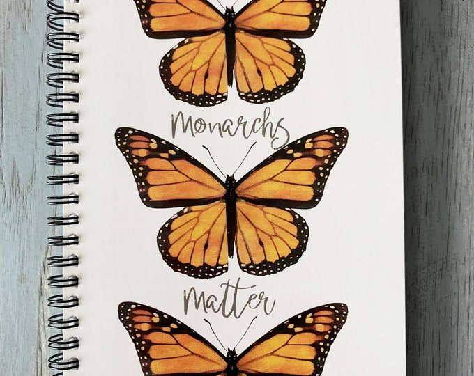 Monarch Butterfly Notebook, Butterfly Notebook, Notebook, Butterfly, School Supplies, Insect Notebook, Butterfly Gift, Nature Notebook