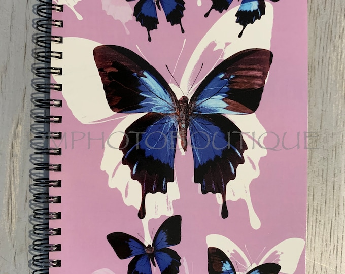 Blue Butterfly Notebook, Butterfly Notebook, Notebook, Butterfly, School Supplies, Butterfly Gift, Nature Notebook, Insect Notebook, Journal