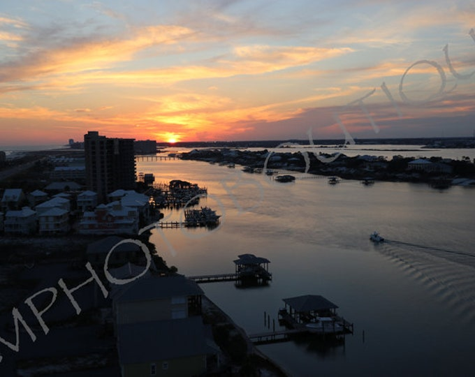Sunset Print, Coastal Photography, Sunset Photo, Beach Decor, Ocean Print, Wall Art, Ocean Landscape, Coastal Landscape, Ocean Wall Art