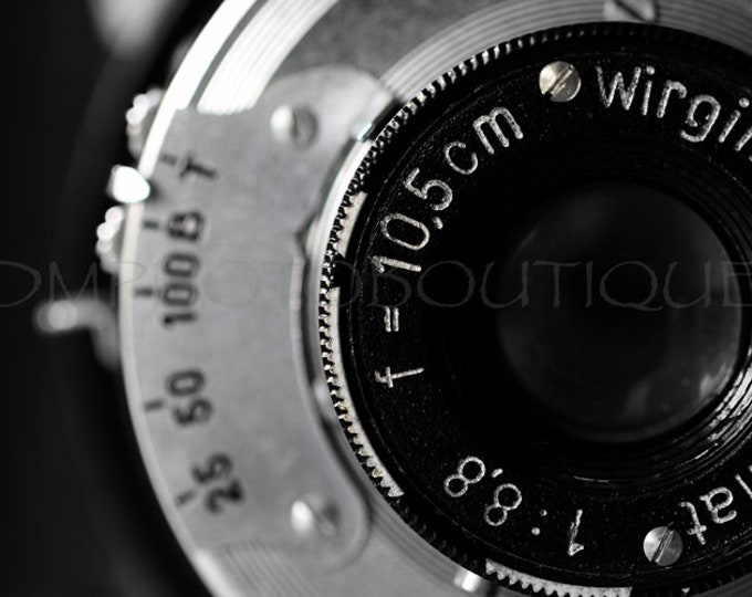 Vintage Camera Print, Vintage Camera Photo, Office Decor, Camera Photo, Camera Photo, Black And White Camera Print, Camera Art, Camera