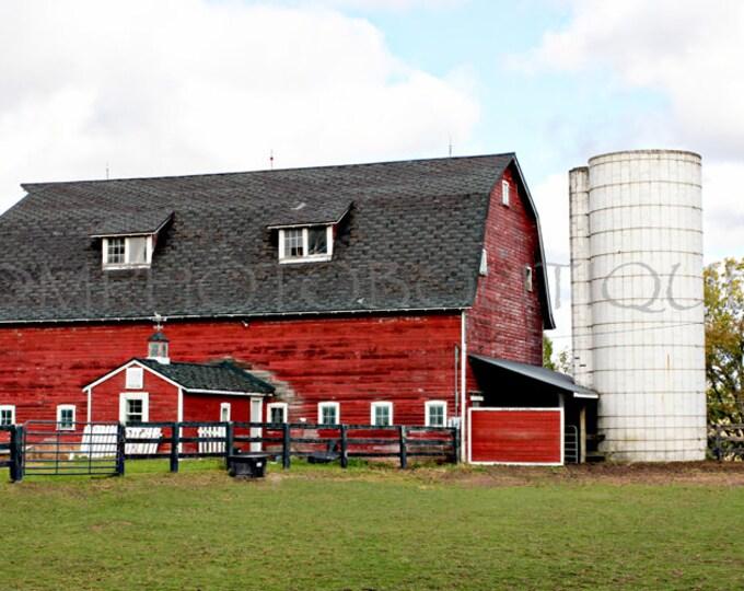 Red Barn Print, Red Barn, Farmhouse Decor, Country Decor, Fixer Upper Decor, Farmhouse Landscape, Fixer Upper Inspired, Wall art, Barn