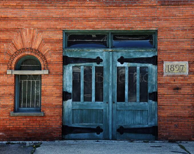 Door Art, Door Artwork, Door Photo, Door Photography, Detroit Photography, Old Firehouse, Firehouse Art, Fire Station Art, Detroit Art, Door