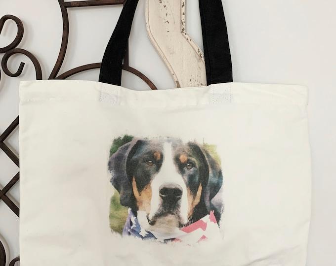 Greater Swiss Mountain Dog Tote Bag, Swissy Tote Bag, Greater Swiss Mountain Dog Gift, Greater Swiss Mountain Dog,Greater Swiss Mountain Dog