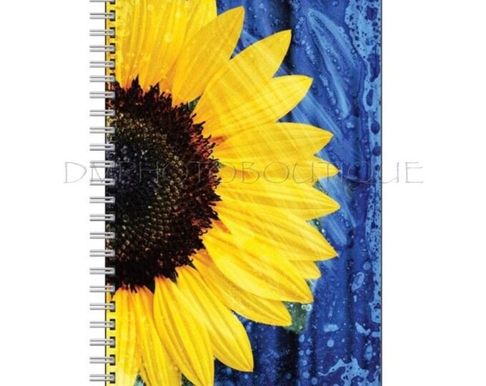 Sunflower Notebook, Sunflower Journal, Cute Notebook, Cute Journal, Flower Notebook, Sunflower, School Supplies, Back to School, Notebook