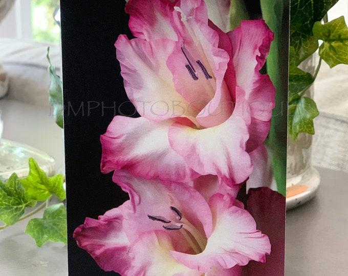 Flower Notecards, Flower Note Card, Flower Notecards With Envelopes, Flower Card, Flower Card Minimal, Gladiolus Gift, Gladiolus Card,Flower