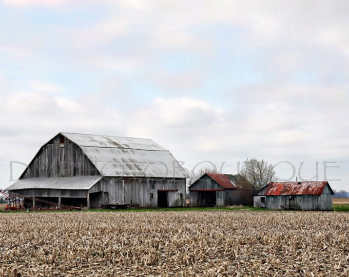 Red Barn Print, Farmhouse Decor, Red Barn, Country Decor, Fixer Upper Decor, Notecards, Farmhouse Landscape, Rustic Decor, Rustic Barn, Barn