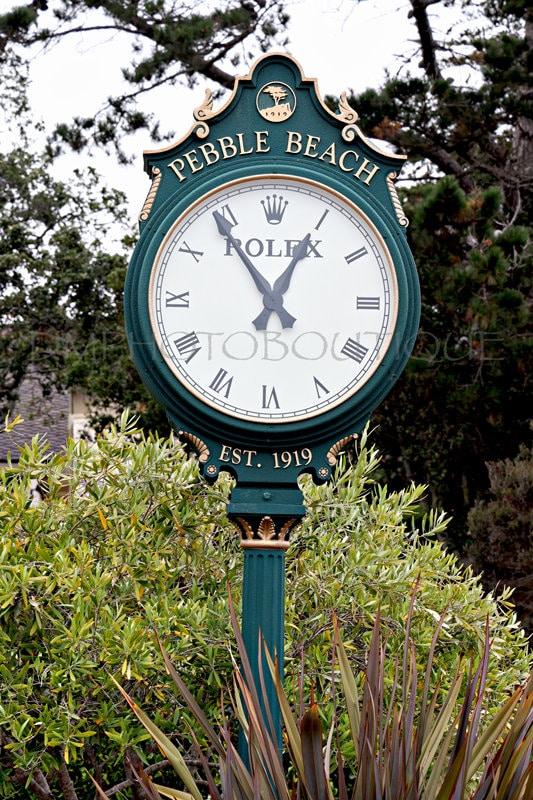 Pebble Beach Rolex Clock Print, Pebble Beach Golf Course