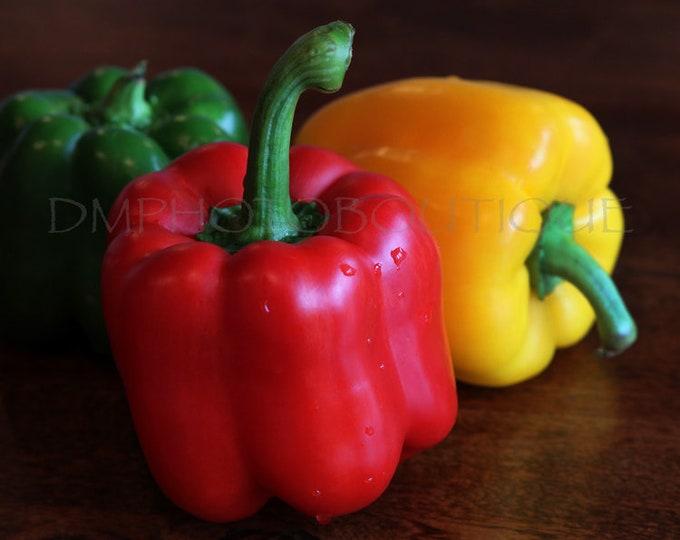 Kitchen Decor, Vegetable, Vegetable Photo, Kitchen Print, Vegetable Print, Vegetable Canvas, Wall Decor, Red Pepper, Rustic Kitchen, Food