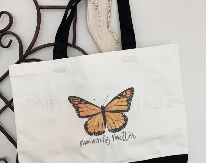Monarch Butterfly Tote Bag, Monarch Butterfly Bag, Butterfly Tote Bag, Butterfly Bag, Monarch Butterfly, Butterfly, Butterfly Gift