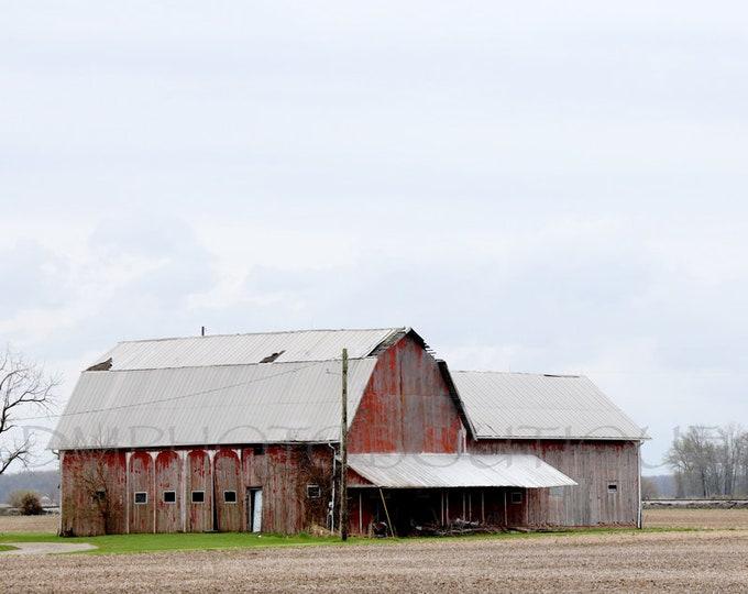 Red Barn, Farmhouse Decor, Red Barn Print, Country Decor, Fixer Upper Decor, Notecards, Farmhouse Landscape, Rustic Decor, Rustic Barn