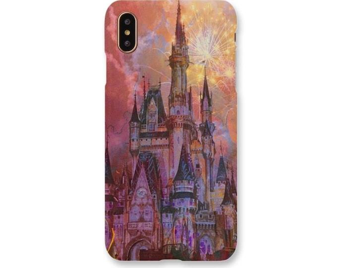 Disney Castle Phone Case, Cinderella Castle Phone Case, Disney, Disney Gift, Disney Fireworks Phone Case, Disney Art, Disney World