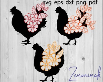 23+ Floral Chicken Svg Free Gif