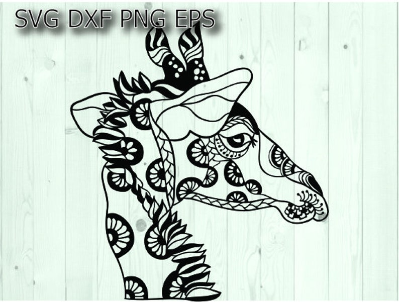Giraffe Svg Zentangle Svg Files For Cricut Etsy