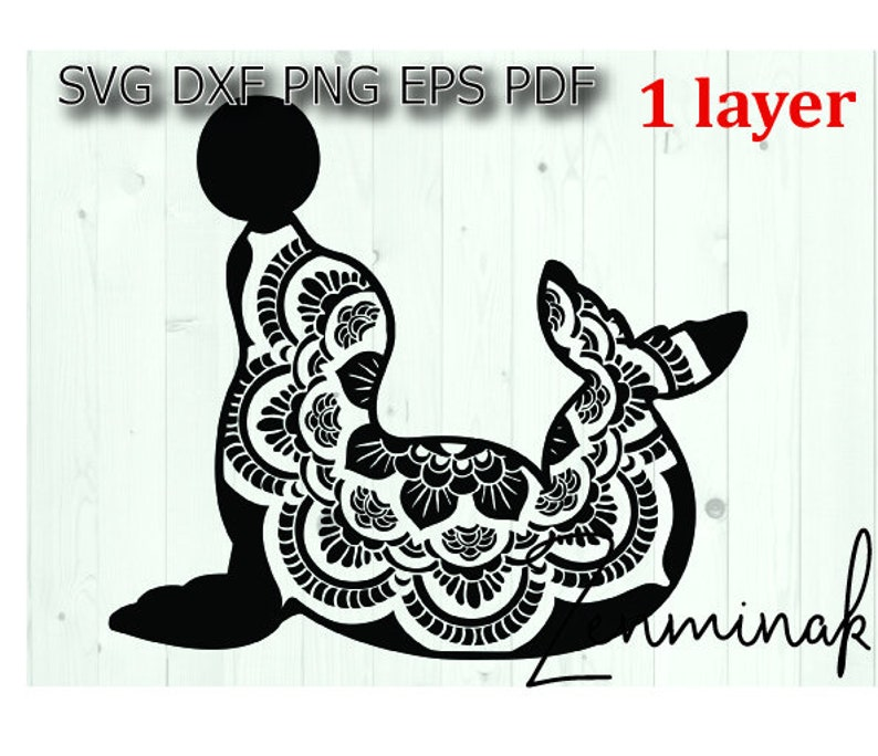 Seal Mandala Svg Sea Lion Svg Animal Mandala Svg For Cricut Etsy