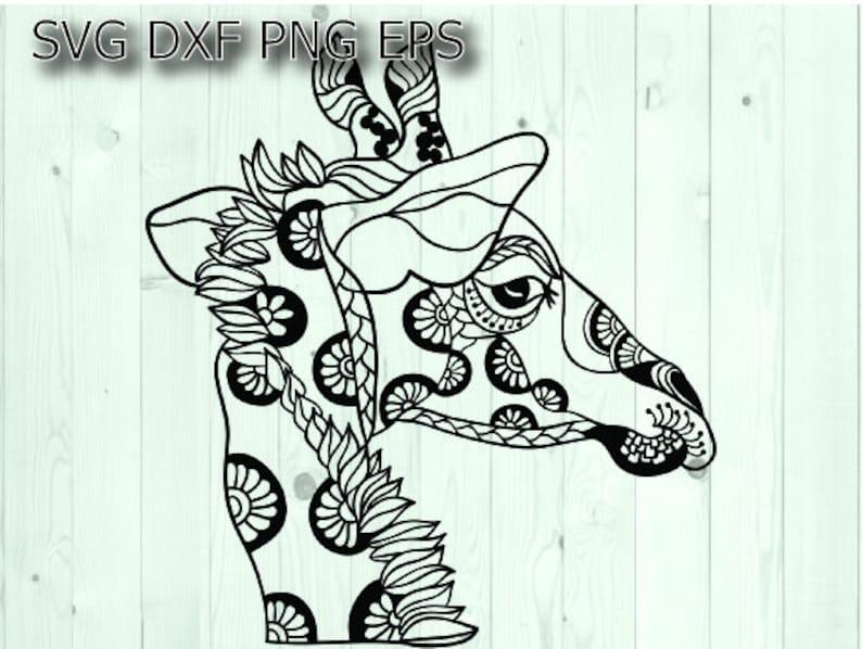 Giraffe Mandala Svg Etsy