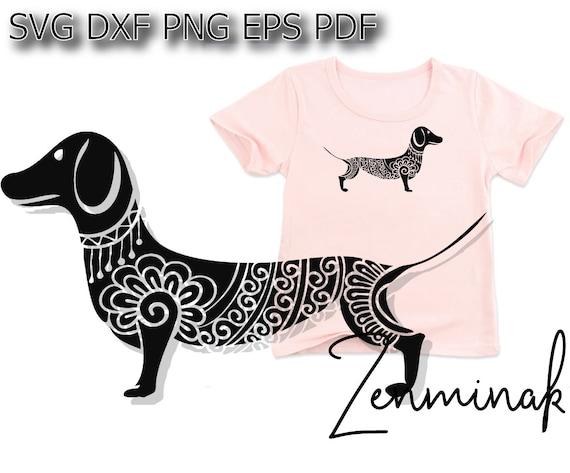 Dachshund Svg Wiener Dog Svg Dog Mandala Svg Etsy