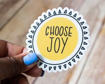 Choose Joy / Christian Sticker / Religious Sticker / Inspirational Sticker / Waterproof Sticker / Laptop Sticker / DieCut / Waterbottle