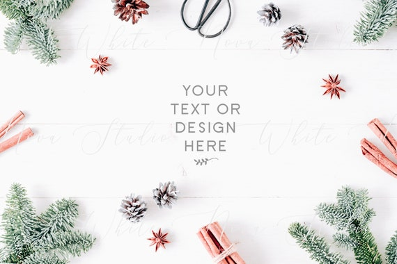 Christmas Card Background.Christmas Holiday Background Stock Photography Christmas Flatlay Greeting Cards Template New Year X Mas Christmas Card Flat Lay 104
