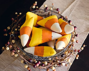 Stuffed Candy Corn Decor | Halloween decor | thanksgiving decor | candy corn | fall decor