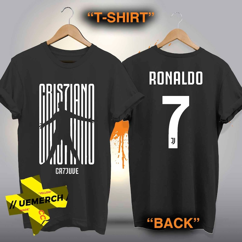56ed2b3f83a76 Juventus Cristiano Ronaldo CR7 T-shirt Cotton100% Cotton