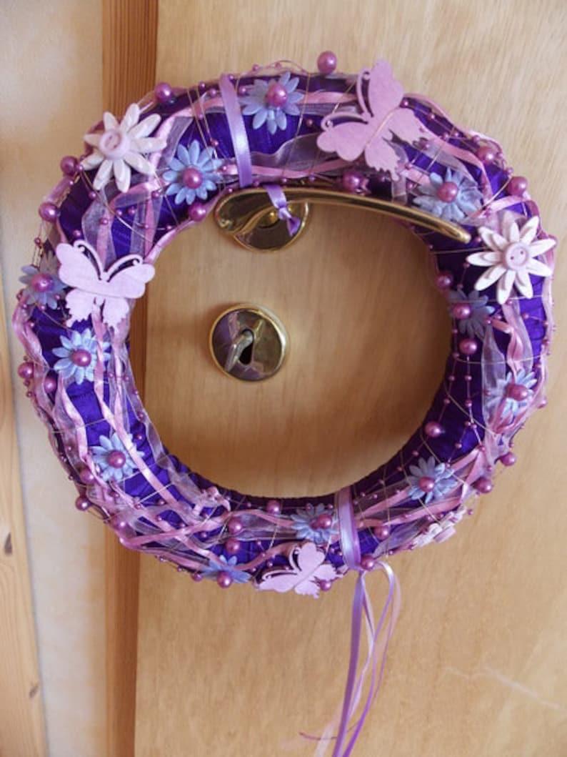 Door Wreath Purple Door Wreath Etsy