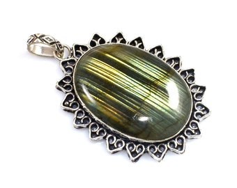 Sodalite Pendant Jewelry Natural Gemstone Silver Plated German Silver Pendant Jewelry Beautiful Designer Pendants