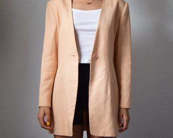 Early 2000s Badly Mischka Oversized Salmon Pink Jacket
