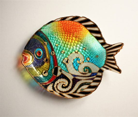 Glass Fish With Stand Living Room Decor Small Plate Fish Etsy
