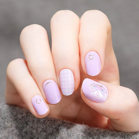 VIKA NAILJAM Gel Nail Strip / Nail Wraps / Nail Stickers / | Etsy