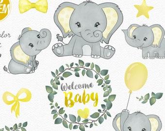 Elephant clip art | Etsy