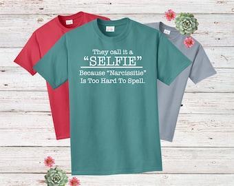 Koszule i koszulki T-shirty MY FIRST SELFIE Tshirt Tee Top Funny Gift Joke Novelty #Selfie Celfie Adult Kids