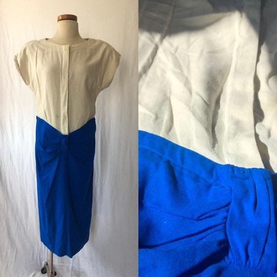80s Raw silk dress