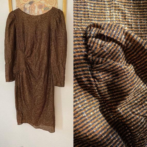 Bronzey disco dress