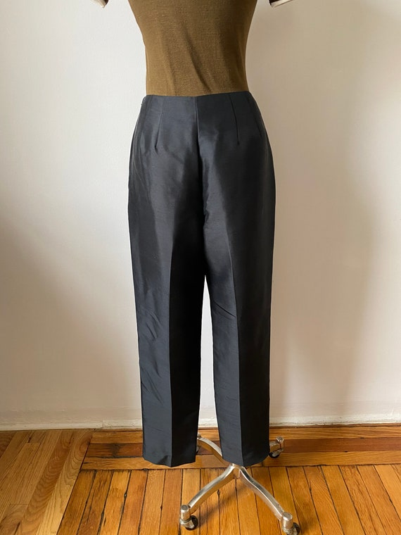 onyx silk trousers - image 2