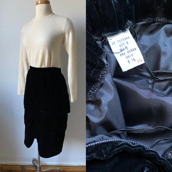 50s Velvet Skirt