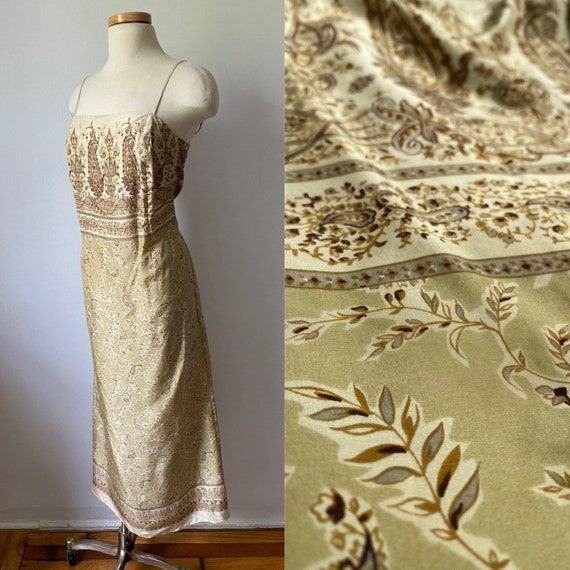 90s silk paisley dress