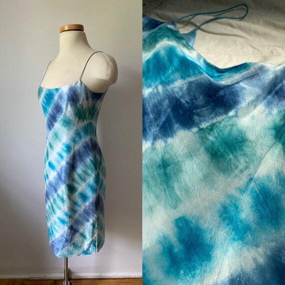 Tie-Dye Silk Dress