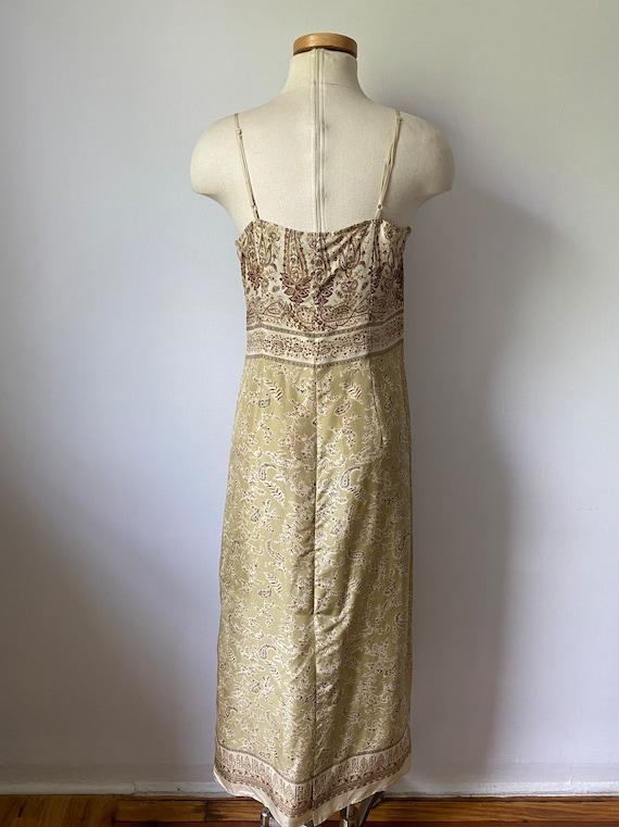 90s silk paisley dress - image 6