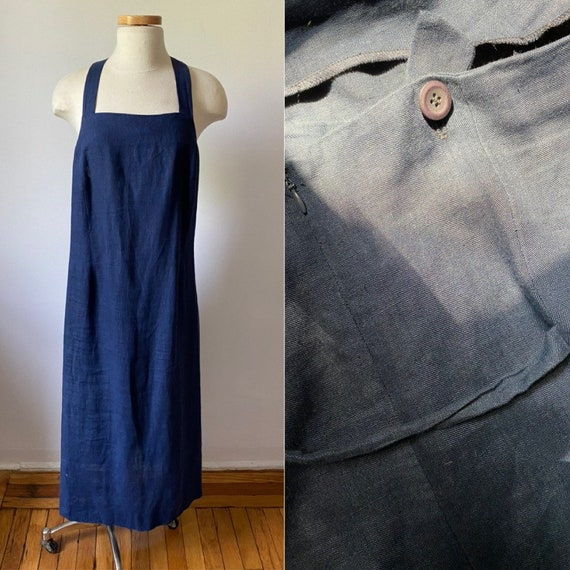Linen Apron Dress | extended size