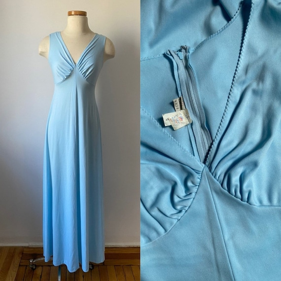70s Baby Blue Gown