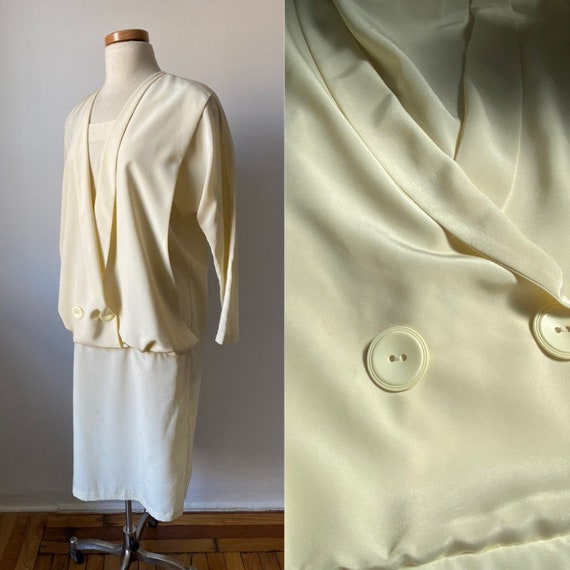 1920/30s Double Breasted Dress