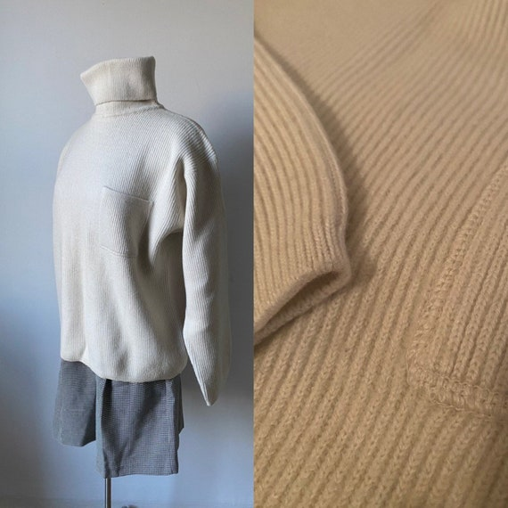 Mohair and Wool Ribbed Pullover
