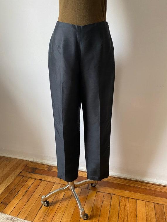 onyx silk trousers - image 4