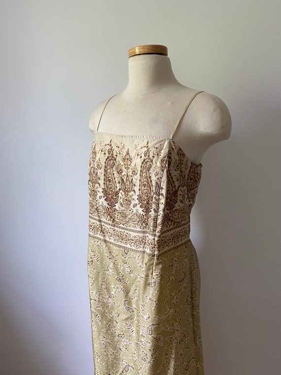 90s silk paisley dress - image 5